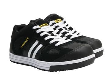 Cody Black/White Stripe Safety Trainers UK 6 EUR 39/40